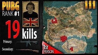 PUBG Rank 1 - BreaK 19 kills SOLO - 1st person PLAYERUNKNOWN'S BATTLEGROUNDS #111 thumbnail