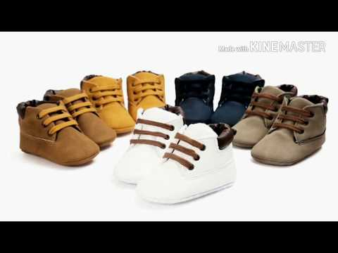 Newborn Baby boys soft soled first walkers Boot shoes