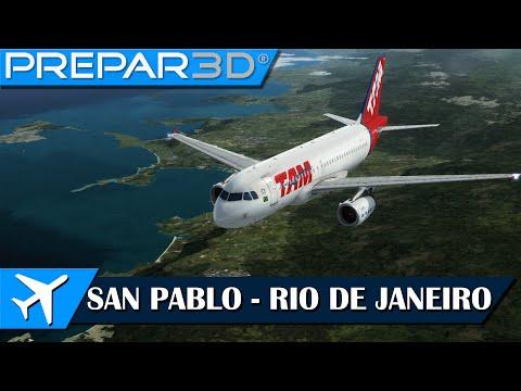 [P3D] AS A319 | San Pablo (SBSP) - Rio de Janeiro (SBRJ) | IVAO [2.0]