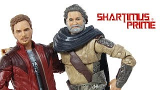 Marvel Legends Ego and Star Lord 2 Pack Guardians of the Galaxy Vol  2 Move Figure Toy Review Set