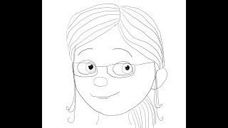Margo. Despicable Me 2. How to draw a easy? (Марго. Мультфильм Гадкий я 2. Как нарисовать просто?)
