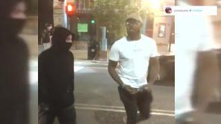 VIDEO: UFC's Jon 'Bones' Jones takes away spray cans from vandals