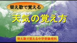 天気の変化、気圧配置、雲の動きを覚えましょう。 元歌 : 茶摘み 作詞 ...