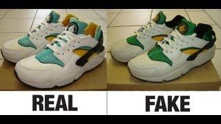 How To Spot Fake Nike Air Huarache Trainers. Real vs Fake Comparison.