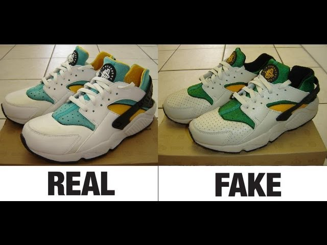 on sale fa847 babe4 How To Spot Fake Nike Air Huarache Trainers. Real vs Fake Comparison. -  YouTube