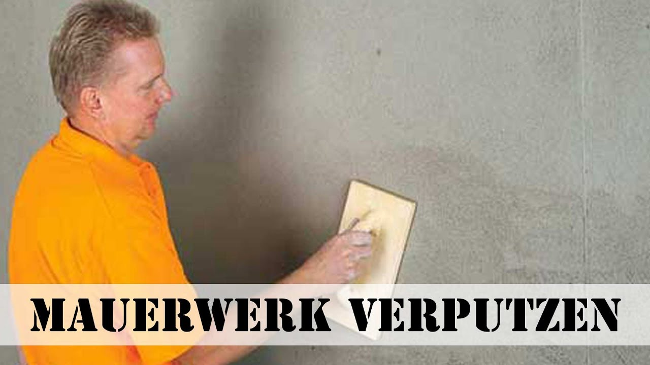 wand verputzen - youtube