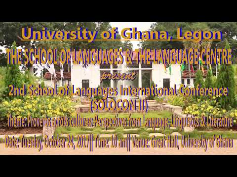 University of Ghana School of Languages International Conference II