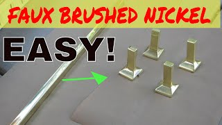 Faux Brushed Satin Nickel with Spray Paint