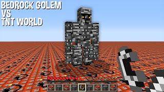 Test BEDROCK GOLEM in WORLD of TNT in Minecraft ! Who will win ?