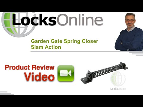 Garden Gate Spring Closer Slam Action Locksonline Product