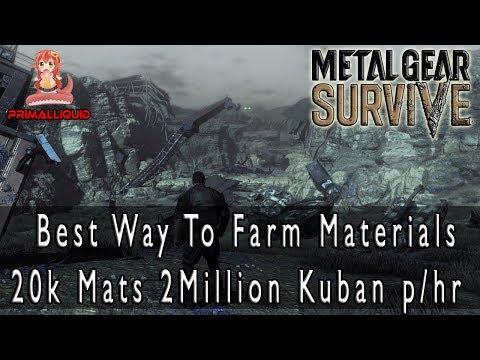 Metal Gear Survive - Best/Fastest Way To Get Materials 20k Materials 2 Million Kuban Per Hour