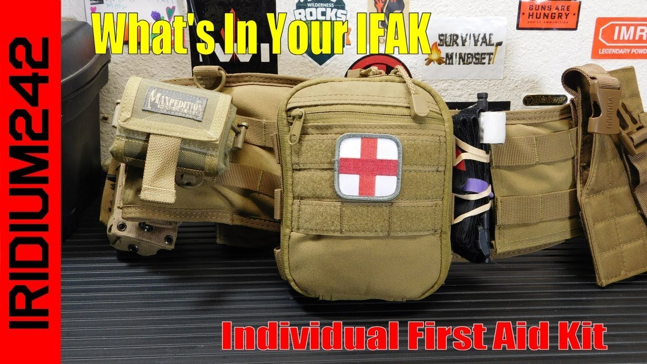What you should have in your IFAK (Individual First Aid Kit)