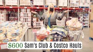 HUGE SAM'S CLUB & COSTCO HAUL!!!! SHOP WITH ME