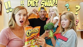WE SWAP DIETS WITH OUR KIDS FOR 24 HOURS!!