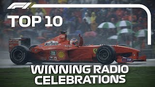 Top 10 Race-Winning Radio Celebrations
