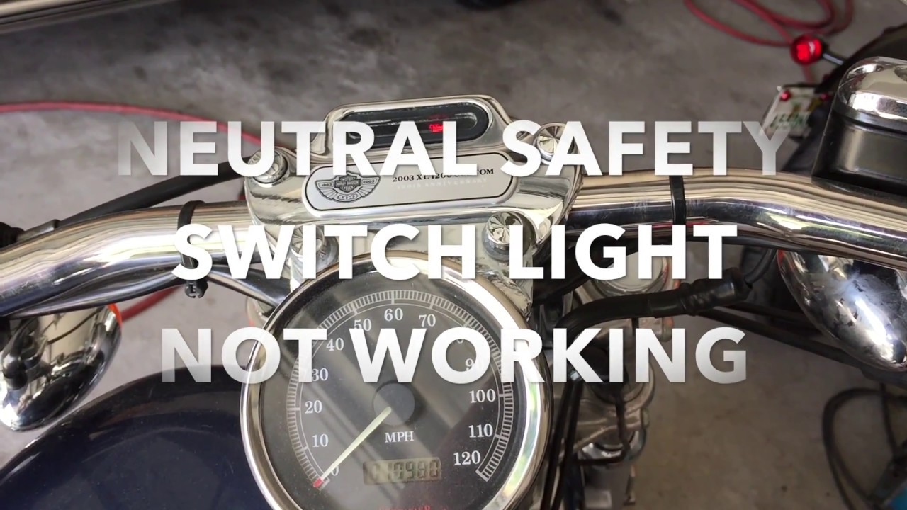 hight resolution of how to harley davidson sportster neutral light not working