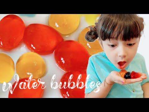 Edible Water Bottle Bubble *How To Make Colourful Edible Water Bubbles