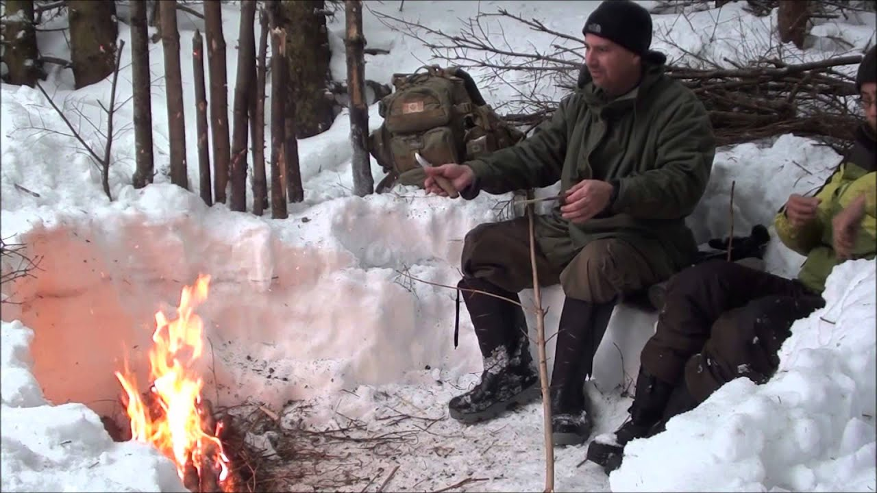 how to start a fire in the winter