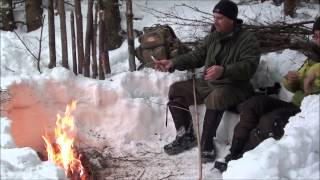 The Long Fire In The Winter & Cooking Salmon
