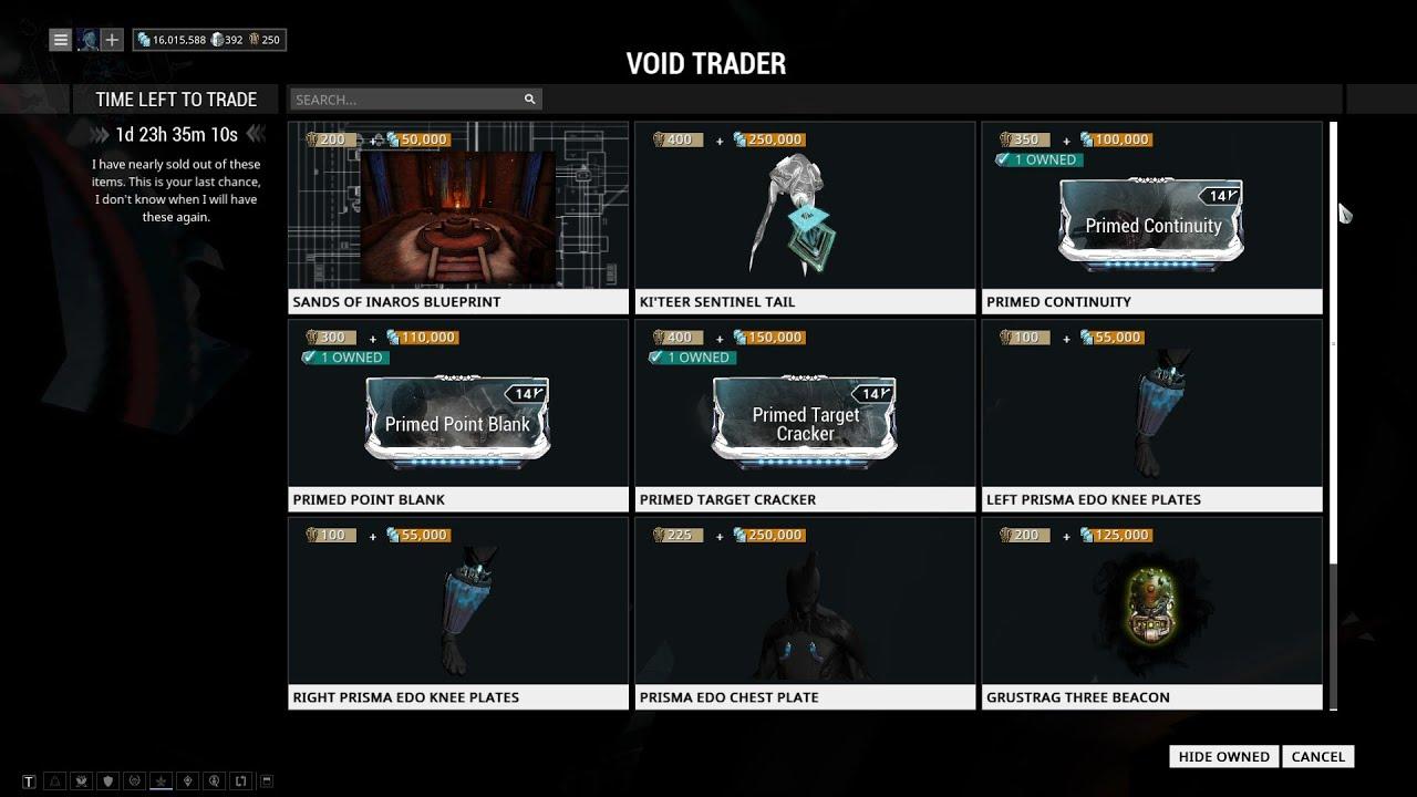 warframe trader tracker