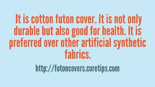 Cotton Futon Cover