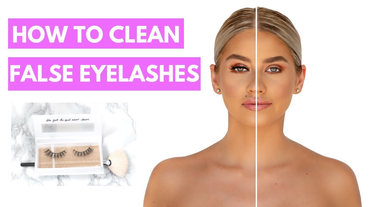 How To Clean False Eyelashes With Makeup Remover - YouTube