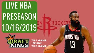 LIVE DRAFTKINGS NBA PRESEASON ANALYSIS (10/16/2019)