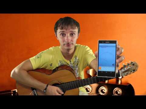 Настройка гитары онлайн через микрофон тюнером