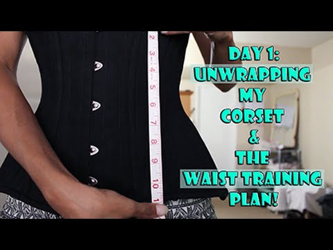 Unwrapping Seasoning My Corset Waist Training Youtube