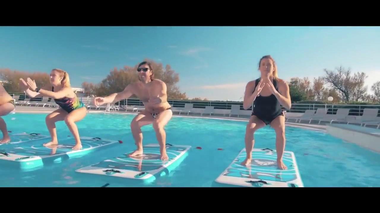 AquafitMat - Floating Aquatic Fitness Mat for Swimming Pool