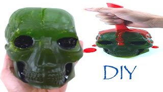 How to make Giant Gummy Skull Candy. Halloween party Ideas for 2016...