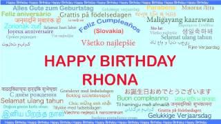 Rhona   Languages Idiomas - Happy Birthday