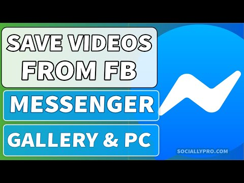 How To Save Video From Facebook Messenger Into Phone Gallery Or PC