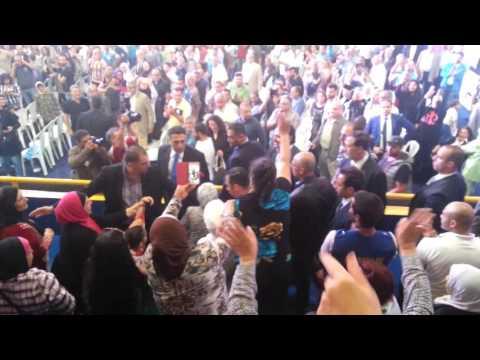 Sheikh Saad Al Hariri entry to Al Riyadi Basketball Stadium at Almanara - Beirut (05/05/2016)