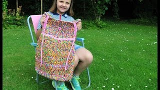 Girl, 11, makes dress out of 24k LOOM BANDS