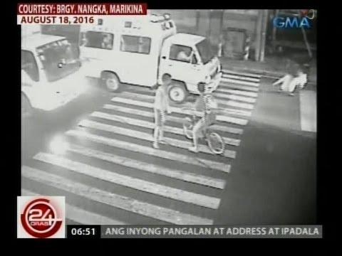 24 Oras: Babaeng tumatawid, nabundol ng ambulansya