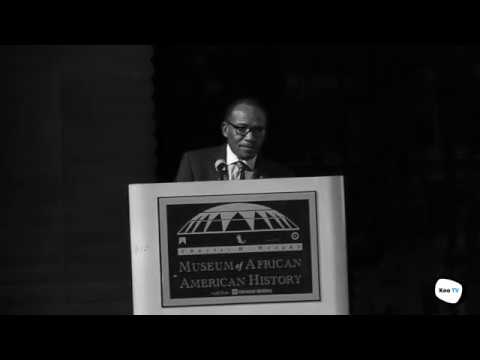 Dr. Melvin Pender presents his 1968 Gold Medal to the Wright Museum in Detroit. Sept 21st, 2017