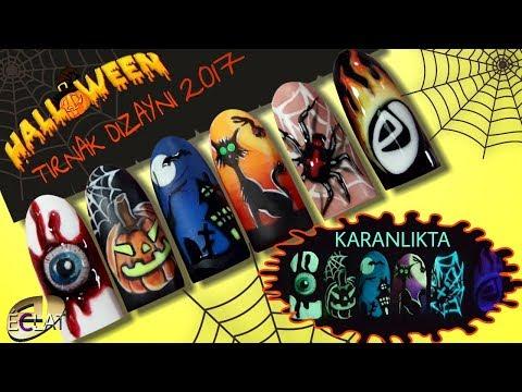 Kalıcı Oje Uygulaması/Halloween Nail Art /Cadı Bayram Tırnak Dizaynı