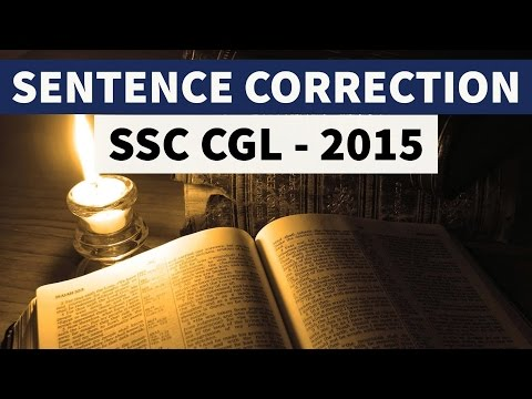 Error Spotting detection correction for Competitive Exams SSC CGL 2015