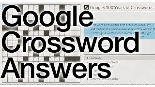 Google 100 Years Of Crosswords Answers