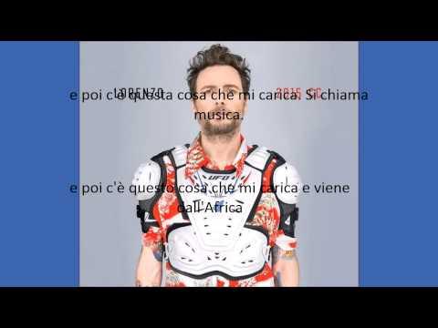 Jovanotti - musica con lyrics (testo)