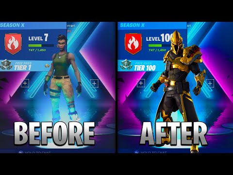How To TIER UP FAST In Fortnite SEASON 10 | Tier 100 In ONE DAY! (Fortnite Tier Up)