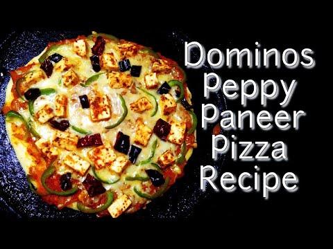Dominos Peppy Paneer Pizza Recipe – Dominos Pizza Recipe with Peppy Paneer , Capsicum , Red Paprika