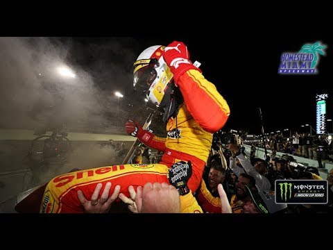 Raw emotion of Joey Logano's championship celebration