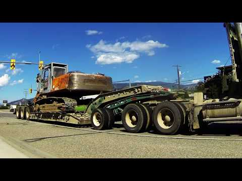 LOWBED TRUCKS #3 - Lowbed [Lowboy] Configurations Spotted Hauling Various Industrial Equipment