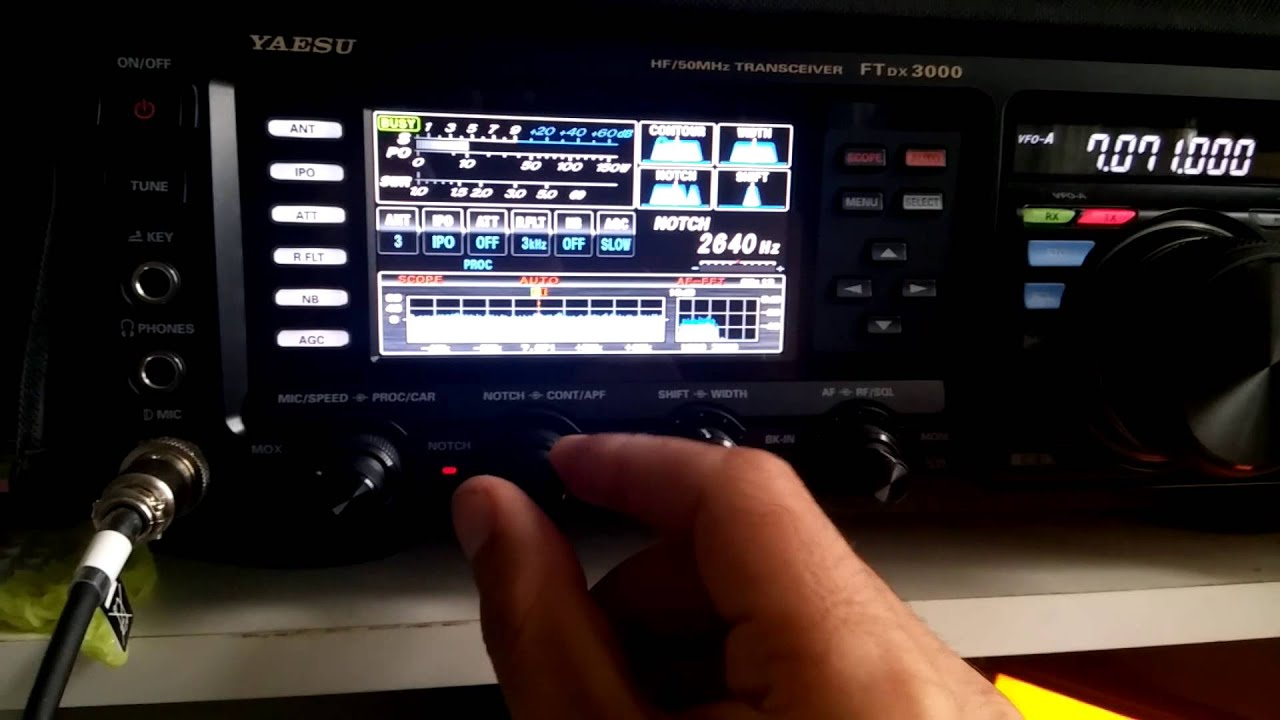 Yaesu ftdx 3000 using dsp filters funnydog tv for Ft 3000