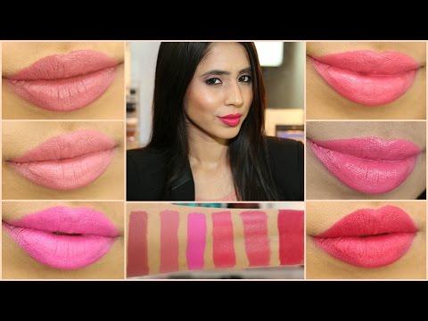 MAC Pink Lipsticks | Lip swatches on Indian/Pakistani/MAC NC42/Tan/Brown Skin |Arzan Blogs