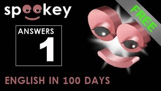 SPEEKEY  |  Answers - Lesson 1  |  LEARN LANGUAGES IN 100 DAYS FREE