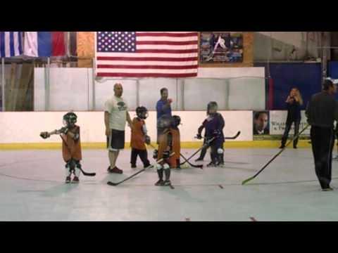 Jacob Jr 1st ball hockey game