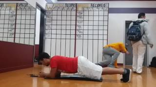 Family Fitness Wyoming Breaking Plank Records!